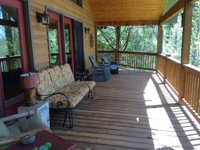Photo for Charming Private Getaway Nestled in Trees; Close to Town!