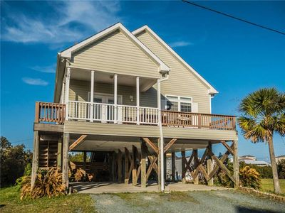 Photo for Trout House: Unique Sound View 3 BR/2 BA house in North Topsail Beach, Sleeps 7