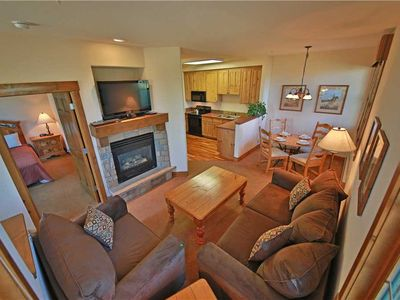Photo for Comfortable ski condo in Granby Ranch with breathtaking views from covered porch