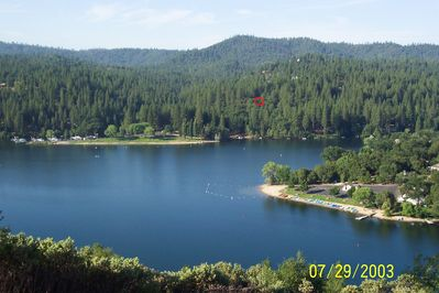 Pine Mountain Lake - cabin location is where the red circle is