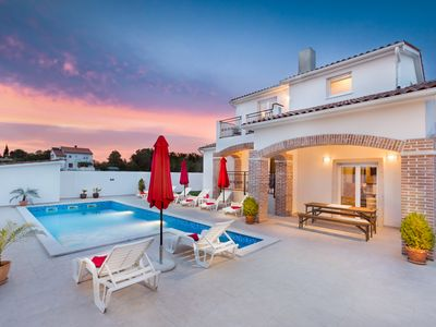 Photo for 4 star villa with private pool near Medulin Pula with 360 view