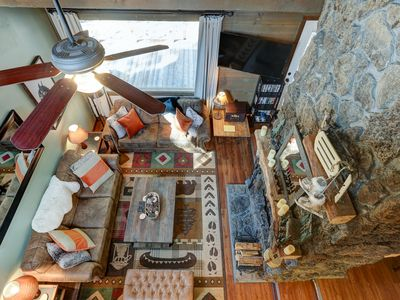 Photo for Hot Tub, close to SHARC, double-sided wood-burning fireplace, peaceful