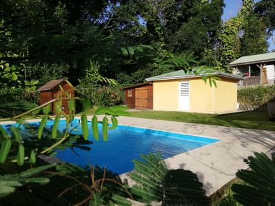 Photo for Quiet country bungalow with pool