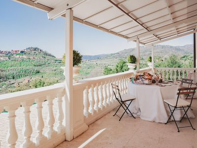 Photo for Alfresco Splendid Panoramic Villa among the olive trees