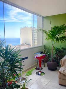 Photo for 3 bedroom apto with beautiful seaview, Barra Carnival!