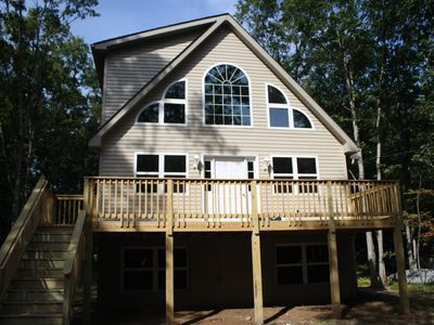 Photo for Chalet, 3 Floors, Game room, near Jim Thorpe, Skiing, Casinos, State Parks