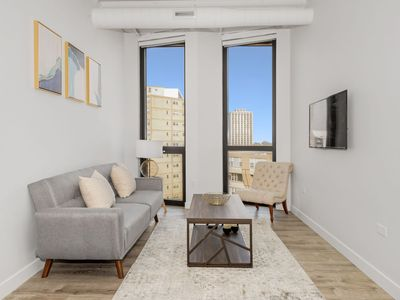 Photo for StayGia | Chic Modern 2 BR Suite Right by Loyola University | w/ Gym, Garage and Meeting Room 07