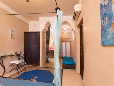 Photo for Riad of 14 rooms / 31Bath heated pool steam room 8min from Jamma El Fna square