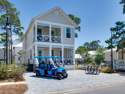 Photo for Pool Next Door, Golf Cart, 4 Bikes, Close to Beach and Gulf Place - Blue Fin at Gulf Place 30A