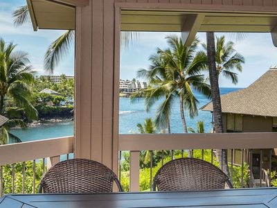 Photo for 2-Level w/Lanai Off Bedrooms, Kitchen, Laundry, AC, DVD, TV, WiFi–Kanaloa at Kona 3505