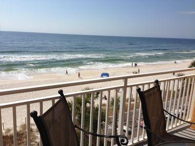 Photo for Splash~Oceanfront 105E~Free beach service~Email before booking dates thru Oct 28