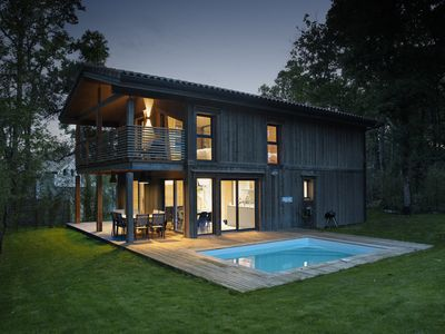 "Photo for ""Lou"": Magnificent bioclimatic architect house in solid wood with swimming pool"