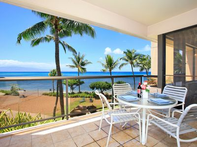 Photo for Incredible ocean views from remodeled beachfront condo on Maui! Sleeps up to 10