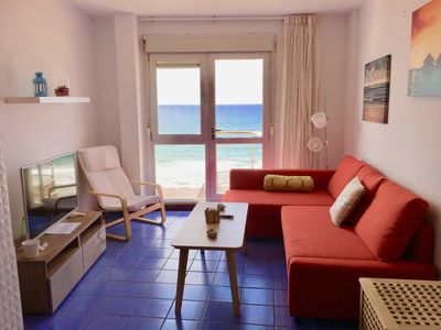 Photo for THE MARINE SALT apartment70m. Facing the sea at 20m the sand PLAYA DE LAS CANTERAS