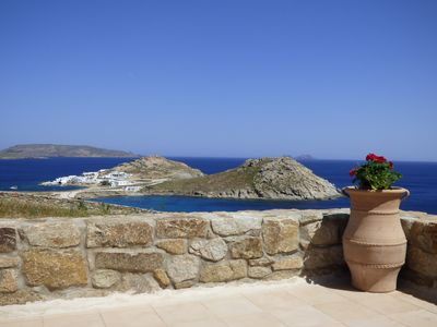 Photo for Mykonos villa, imaginary view, perfect for families