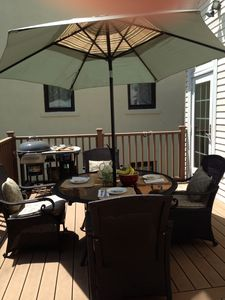 Relax on the back deck!