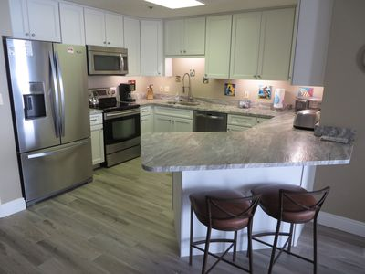 Photo for New in 2020!! All new tile floors. New cabinets and granite counter tops