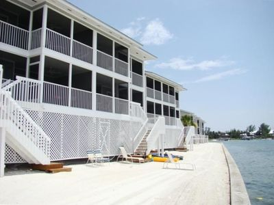 Unit from the seawall with private stairs to beach