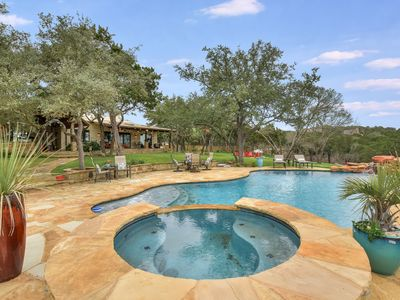Photo for ABOVE SERENITY | 8mi to ATX | Pool/Spa I 10 Beds | Acres of Land | Views