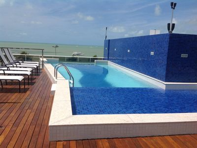 Photo for Rev 1 Qto penthouse w / leisure area on the seafront of Tambaú Beach
