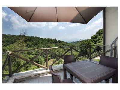 "Photo for The Borgo di Tresana ""Federico"" has a large terrace with a view"