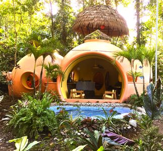 Photo for Adobe-style Dome Home In A Lush, Rainforest Setting 3 Minute Walk From The Beach