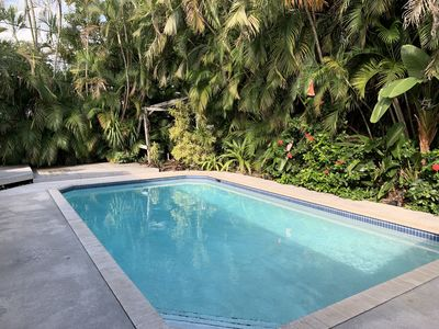 Photo for 3 BEDROOM HOME WITH PRIVATE TROPICAL PARADISE IN BACK YARD