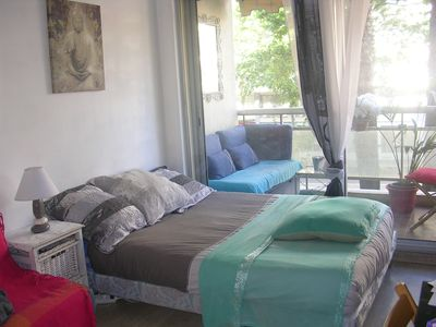 Photo for 3 charming rooms sunny and air-conditioned near Croisette terrace