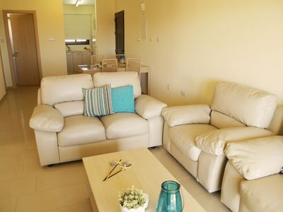 Photo for Kyklades Resort DPSBC12-Three Bed Apt-Balcony-WiFi-Communal Pool-Gym-Tennis-Spa