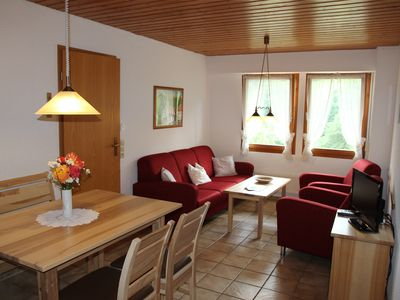 Photo for Apartment sun view Todtnau - Cozy traditional black forest family apartment with private BBQ terrace and dish washer