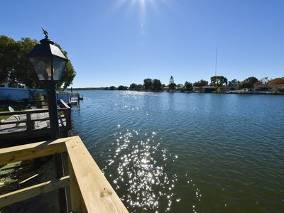 Photo for GREAT LOCATION WATERFRONT, HEATED POOL HOME ON DEAD END STREET! BEAUITFUL SUNSET