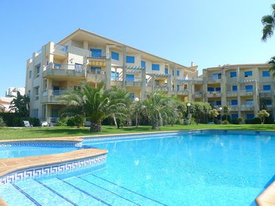 Photo for charming apartment, 1st line sea, swimming pool residence, 2 bedrooms, ground floor, Denia