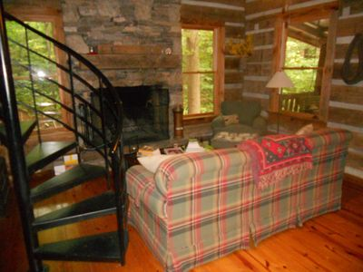 Photo for Private log cabin on 6.5 acres near Tryon International Equestrian Center