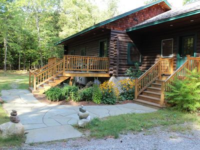 Photo for Log Cabin in the Heart of the ADK High Peaks with Views!