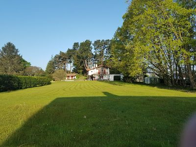 Photo for Basque house of 200 m² on 5000 m², 3 bedrooms, swimming pool, Arcangues, Biarritz.