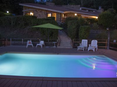 Photo for Villa at Lake Nemi just outside Rome, Italy, with brand new pool and ocean view.