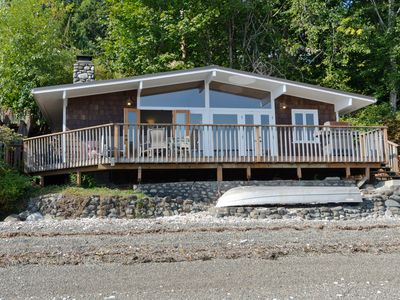 Photo for Hood Canal, Octopus Hole Beach Cabin. 315' Cove with Oysters!