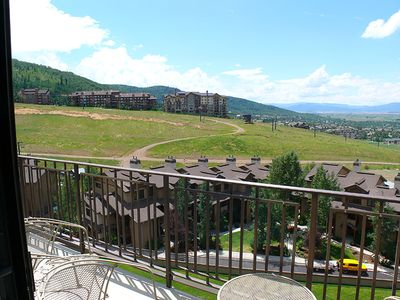 Photo for Top Floor Summer View of the Mountain & Valley from the Comfort of the Condo!