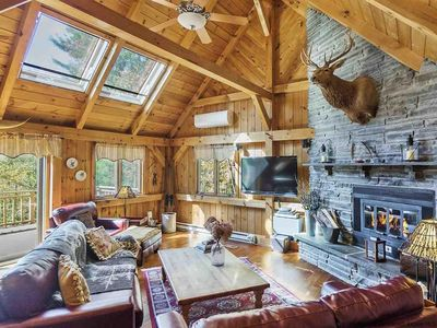 Photo for Timber frame home 5 minutes from Windham Mountain, perfect rental for 2 families