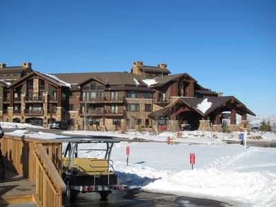 Walk or ride across roundabout to our gondola.