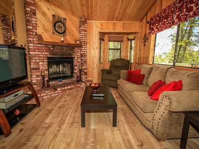 Photo for Tree Top Hideaway Serene 2 BR Lofty Chalet / Games