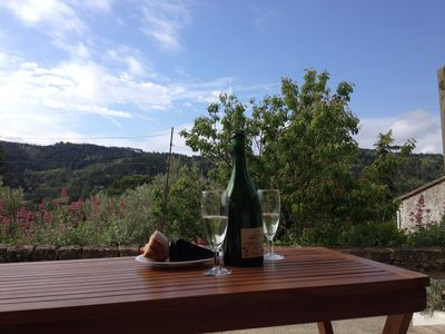 Photo for Sleeps up to 6 with stunning terrace views over the upper Aude Valley.