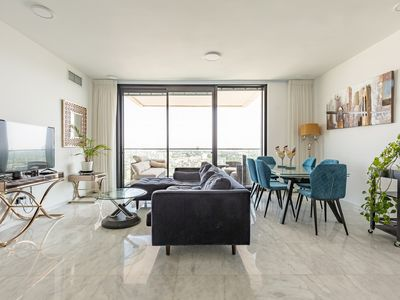 Photo for Gorgeous TLV Rothschild BLVD Sea & City Views 4BR 3BA Luxury+Gym & Parking