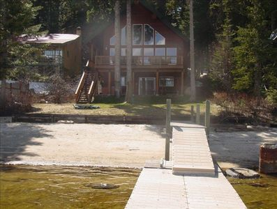 view of the cabin from the dock