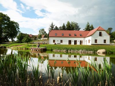Photo for Beautiful new, quiet country house in Litschau with private swimming pond