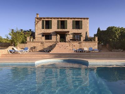 Photo for Quietly located, historical villa for 8 pers.w/panorama, sea view, pool, 4bedroo