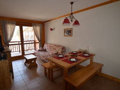 Photo for A warm apartment in Valloire at 100 M slopes