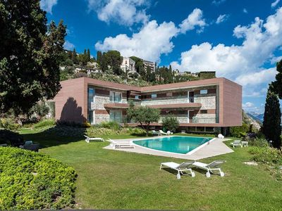 Photo for Exclusive residence with a pool, breathtaking views of Taormina and the sea