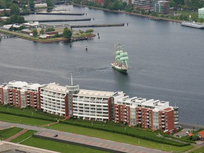 Photo for Exclusive 3 room apartment with sea view and harbor view on the North Sea