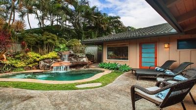 Photo for Tropical Zen Oasis -  Large Waterfall Jacuzzi - An Adult Retreat